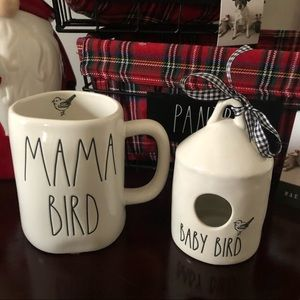 Rae Dunn MAMA BIRD & BABY BIRD